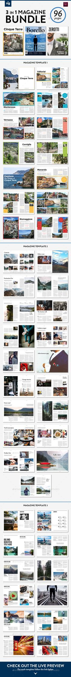 Magazine Template Bundle, Vol. 3 - Magazines Print Templates Download here : https://graphicriver.net/item/magazine-template-bundle-vol-3/19425883?s_rank=12&ref=Al-fatih