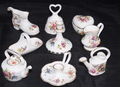 A selection of 9 Hammersley porcelain miniatures