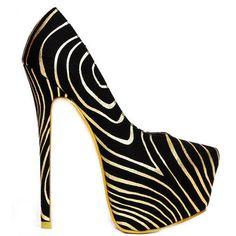 Gold Zebra Platform #Pump High #Heel #Shoes http://www.cutesyoriginals.com/product/yang-42-gold-zebra-almond-toe-pump-high-heel-platform-shoe/