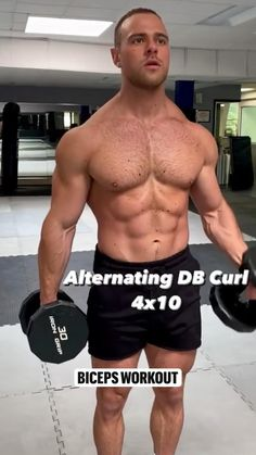 Tone Up Workouts, Gym Workouts For Men, Gym Workout Videos, Weight Training Workouts, Bicep And Tricep Workout, Dumbbell Workout, Gym Guys, Workout Protein, Workout Posters