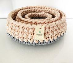 Set of 3 baskets handmade crochet PASTELOVE | crochet baskets | crochet bowls
