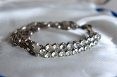 Vintage assemblage bracelet by frenchfeatherdesigns on Etsy