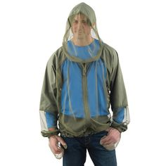 This is a line of wearable mosquito net clothing available exclusively from Hammacher Schlemmer. You can get mosquito netting knee-length socks, pants, sleeves, shirts and jackets ($20 - $60).