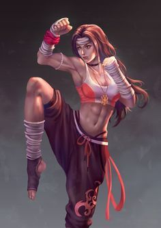 I love Muay Thai - I love Muay Thai This is probably going to be the fighting stance for my titan form. Fantasy Girl, Fantasy Warrior, Fantasy Women, Female Character Design, Character Art, Character Concept, Character Sketches, Concept Art, Fantasy Characters