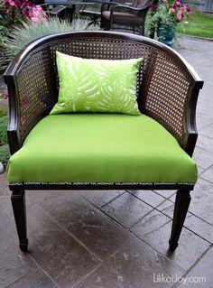 Hey Foxy Lady! A Barrel Cane Chair Makeover :: Hometalk