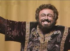 Luciano Pavarotti as Manrico in Il Trovatore, 1988 at the Met.