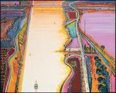 'River Sides,' 2007, Wayne Thibaud, Sacramento, California!! My home!!