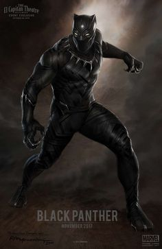 Marvel Entertainment Also, we released this incredible piece of Black Panther concept art by Ryan Meinerding. Black Panther will appear in Marvel's Captain America: Civil War in 2016 before launching into his own 2017 movie! More info here! Black Panther Marvel, Black Panther Poster, Black Panther 2018, Marvel Dc Comics, Films Marvel, Marvel Vs, Marvel Heroes, Poster Marvel, Captain Marvel