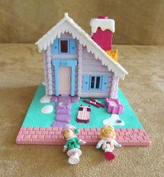 Ski Chalet 1993 vintage Polly Pocket Bluebird Pollyville Mattel house holiday #Mattel #HousesFurniture