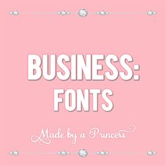Fonts for every occasion and event Business Fonts, Staging