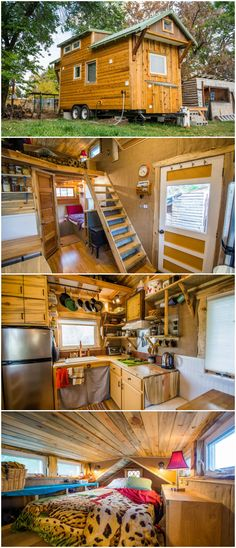 The Bookworm is a nice tiny house built by MitchCraft Tiny Homes.