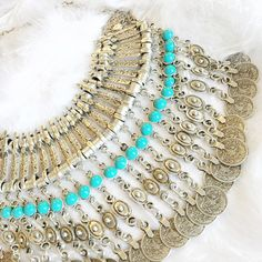 Tides - Beaded Authentic Coin Collar