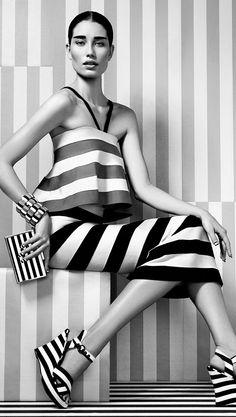 black & white & stripes