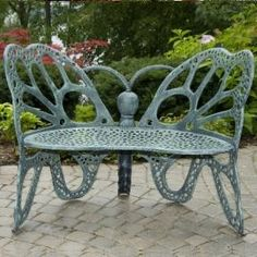$476.00 (CLICK IMAGE TWICE FOR UPDATED PRICING AND INFO)  Patio Furniture - Butterfly Bench Antique - FHBFB06A - See More Butterfly Chairs at http://www.zbuys.com/level.php?node=3925=butterfly-chairs