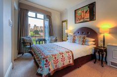 Castle View room at the Harte & Garter Hotel in Windsor for all our guests on the Henry VIII and Magna Carta Tours.