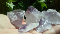 Check out this item in my Etsy shop https://www.etsy.com/listing/125713740/7-1-2-in-size-pieces-natural-amethyst