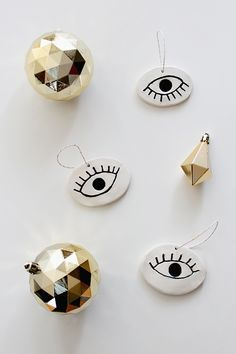 diy eye ornaments  | almost makes perfect