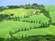 Val d'Orcia, Toscana (Flickr: Oishi Kuranosuke) Con i suoi infiniti vigneti, la Toscana è una delle regioni più pittoresche d'Italia. Perfetta per perdersi in lunghe passeggiate nei borghi o nelle campagne alla scoperta di vini e piatti della tradizione