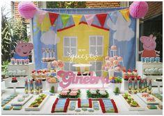 Ginebra's Peppa Pig Birthday Party | CatchMyParty.com