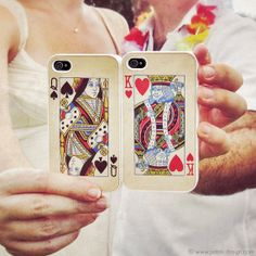 King & Queen Set of 2 Plastic iPhone 4 Cases by petekdesign, $48.00