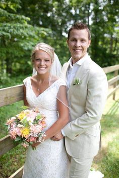 Congrats to NASCAR driver Trevor Bayne. He and Ashton Clapp exchanged vows on Tuesday, June 4, 2013, in Asheville, N.C.  (Photo: Lori Hensley Photography)