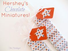 Hershey miniatures wrapped in scrapbook paper then put into a pretzel bag!