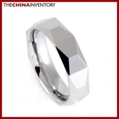6MM SIZE 8 POLISHED FACETED TUNGSTEN BAND RING R0911B Cheap Silver Jewelry, Cheap Body Jewelry, Wholesale Gold Jewelry, Fine Jewelry, Tungsten Carbide Wedding Bands, Aquamarine Pendant, Buy Jewellery Online, Pandora Bracelet Charms
