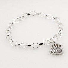This little handprint charm bracelet will make a truly unique present for someone or a gift for yourself, and comes with FREE UK delivery. http://www.katesjewellery.co.uk/personalised-charm-bracelets/little-handprint-charm-bracelet