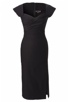 Stop Staring! - Stop Staring! - 50s Mad Men pencil dress black