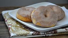 The pumpkin spice glaze on these donuts makes these an easy fall favorite.