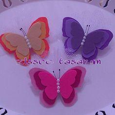 Rengarenk Kelebekler, keçe, keçe kelebek, felt, feltro,