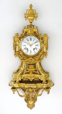 c1764 Wall Clock on Bracket Maker Name: Case by Antoine Foullet, maker (French, 1710 - 1775, master 1749)  and movement by Lapina, maker (French, born 1801)