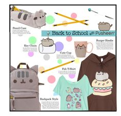 """#PVxPusheen - Back To School with Pusheen"" by diane-888 ❤ liked on Polyvore featuring Pusheen, contestentry and PVxPusheen"