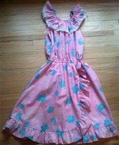 Girls Tropical Dress 12/14 by lishyloo on Etsy, $10.00