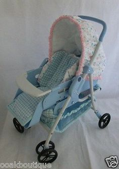 "Stroller / carrier for mini reborn / ooak baby doll up to 8"" ~ very hard to find"