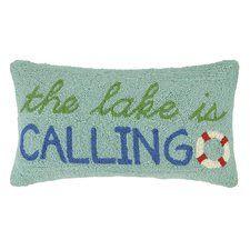 Lake Hook Wool Lumbar Pillow