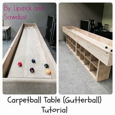 Carpetball Table Carpet Ball Tutorial By Lipstick And Sawdust