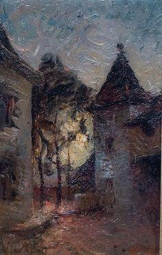 François-Auguste Ravier (1814 - 1895), Cour de la maison du peintre