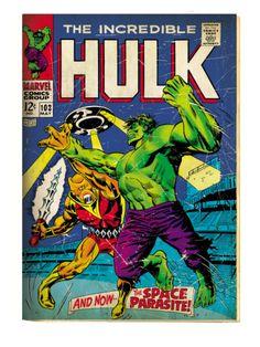 Hulk Retro Comic Cover Art