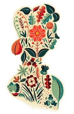 The Memory Rose by Adam Hancher (via Illustrated Ladies)