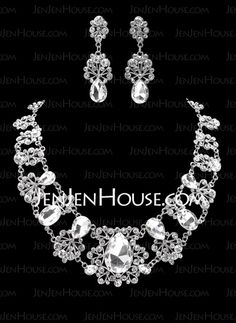 Jewelry - $29.99 - Jewelry Sets Anniversary Wedding Engagement Birthday Gift Party Alloy With Rhinestones Silver Jewelry With Rhinestone (011019391) http://jenjenhouse.com/Jewelry-Sets-Anniversary-Wedding-Engagement-Birthday-Gift-Party-Alloy-With-Rhinestones-Silver-Jewelry-With-Rhinestone-011019391-g19391