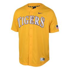 Men's Nike Gold LSU Tigers Vapor Performance Baseball Jersey