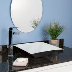 "17"" Infinite Stainless Steel Square Vessel Sink"