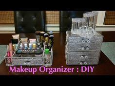 Trendy Makeup Organization Diy Dollar Stores Drawers Make Up Ideas Dollar Tree Organization, Bedroom Organization Diy, Organizing Ideas, Storage Organizers, Diy Storage, Kitchen Storage, Dollar Tree Makeup, Make Up Organiser, Crystals