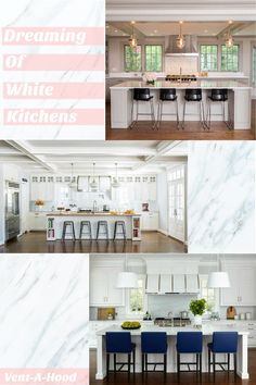 Dreaming of White Kitchens Kitchen Vent, Contemporary Kitchens, White Kitchens, Floor Plans, Home, Ad Home, Homes, Haus, Floor Plan Drawing