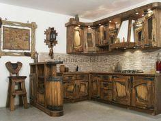 Кухня под старину Арабика, Кухня из дерева под старину