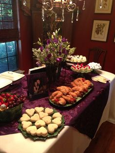 Bridal Shower Buffet Table