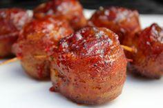 Bacon Wrapped Meatballs aka Moink Balls via Smoked Meat Recipes, Rub Recipes, Grilling Recipes, Beef Recipes, Traeger Recipes, Meatball Recipes, Sausage Recipes, Yummy Recipes