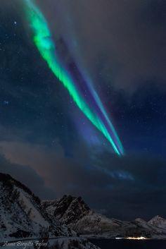 Auroras Feb. 17 over Norway