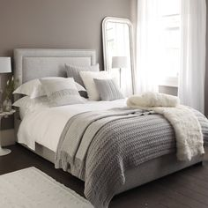 Buy Bedroom > Bedspreads & Cushions > Cliveden Cushion Covers - Silver from The White Company